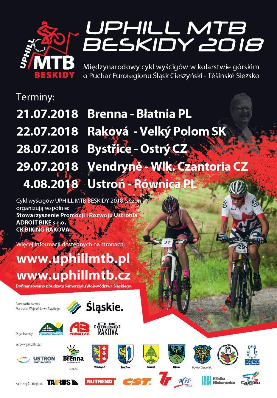 PLAKAT UPHILL MTB BESKIDY 2018
