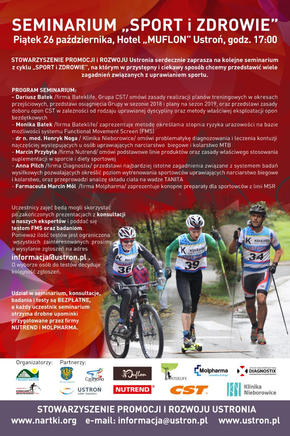 """Seminarium """"Sport i zdrowie"""" - jesień 2018"""