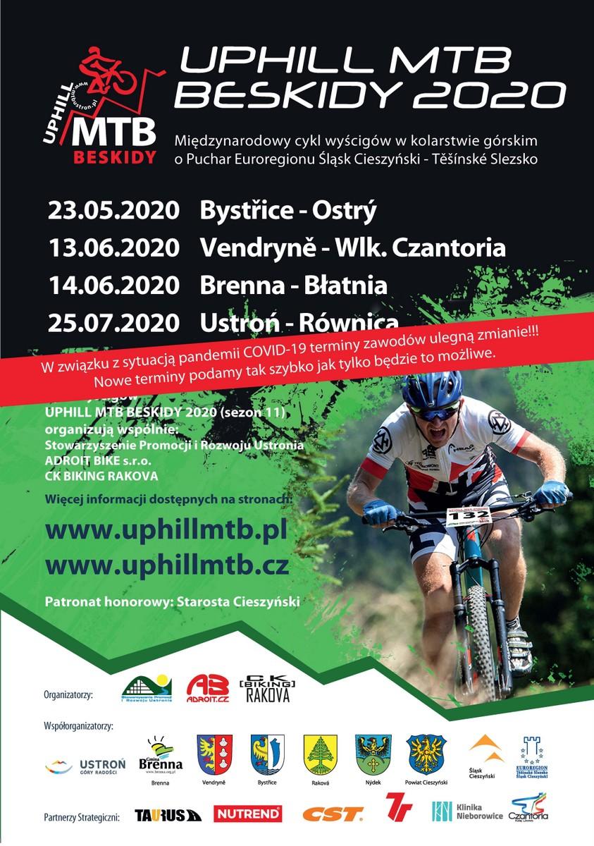 Plakat Uphill MTB Beskidy 2020